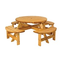 Cotswold 8 Seat Round Timber Picnic Bench