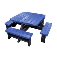 Junior Square Recycled Plastic Picnic Bench