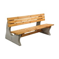 Timber Concrete Park Bench