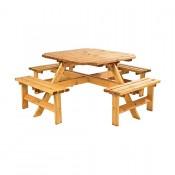 Timber Octagonal Picnic Bench