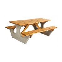 Concrete Rectangular Picnic Table