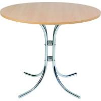 Chrome Round Bistro Table