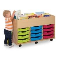 Bubblegum Kinderbox 12 Shallow Tray Storage Unit