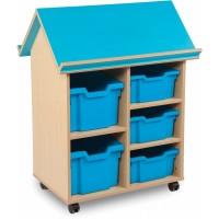 Bubblegum Book House Tray Storage Unit