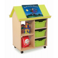 Bubblegum Book House With Trays