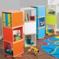 Bubblegum Swivel Shelving Storage Units