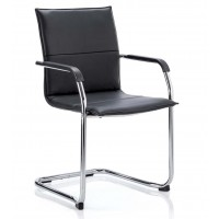 Echo Black Cantilever Visitor Chair SALE