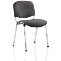 ISO Chrome Chair SALE - Charcoal Fabric