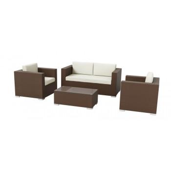 Hampton 4 Piece Outdoor Sofa Set - Mocha