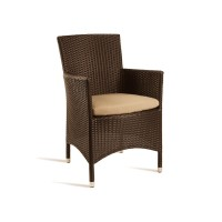 Mocha Outdoor Padded Armchair