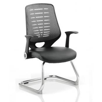 Relay Leather Cantilever Visitor Chair