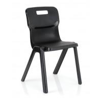 Titan One Piece Chair 430mm Black