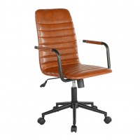 Beat Brown Leather Office Chair