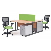 Contract 25 Straight Office Desks