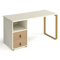 Cairo Straight Office Desk With Pedestal