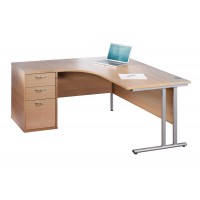 Maestro Ergonomic Office Desk and Pedestal
