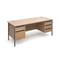 Maestro H Frame Double Pedestal Desk