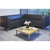 Quatro Leather Modular Reception Seating