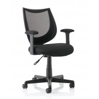 Camden Black Mesh Operator Chair