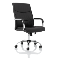 Carter Chrome Faux Leather Chair