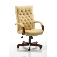 Chesterfield Cream Executive Office Chair