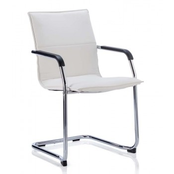 Echo Leather Cantilever Visitor Chair (Set of 2)