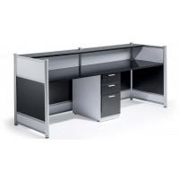 Gloss Black and White Reception Desk