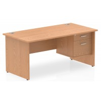 Impulse Panel End Office Desks with Drawers