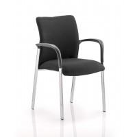 Academy Black Fabric Reception Chair