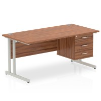 Cantilever Fixed Pedestal Office Desk