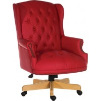 Chairman Rouge Leather Executive Chair