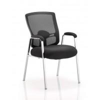 Portland Chrome Mesh Visitors Chair