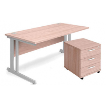 Aspire Rectangular Desk and Pedestal Bundles