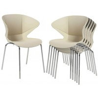 Cappuccino Cream Cafe Chair (Set of 2)