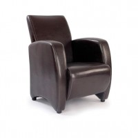 Metro Leather Effect Armchair