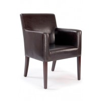Metro Leather Effect Cubed Armchair
