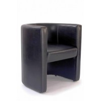 Roma High Back Leather Tub Chair