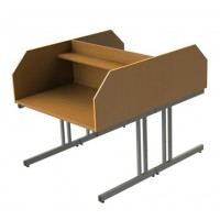 Double Sided Cantilever Study Carrel
