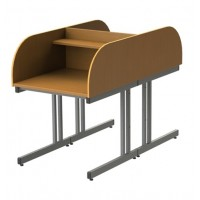 Double Sided Curved Cantilever Study Carrel
