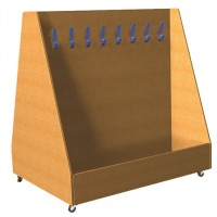 Double Sided Mobile Cloakroom Trolley