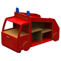 Early Years Fire Engine Book Storage