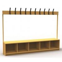 GMFL Primary 10 Hook Cloakroom Bench