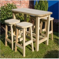 High Table and Stool Picnic Set