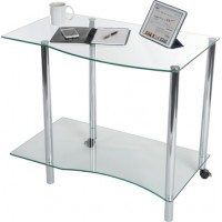 Ice Light Glass Office Workstation
