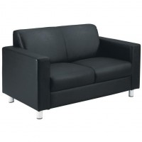 Iceberg Leather Two Seater Sofa