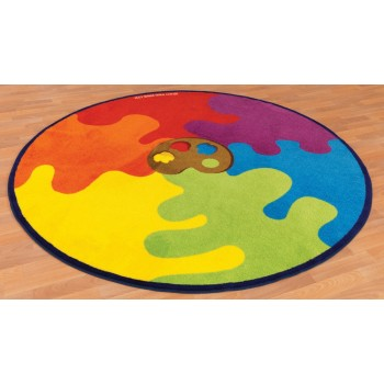 Decorative Colour Palette Classroom Carpet