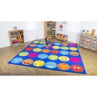 Emotions 3m Square Classroom Carpet