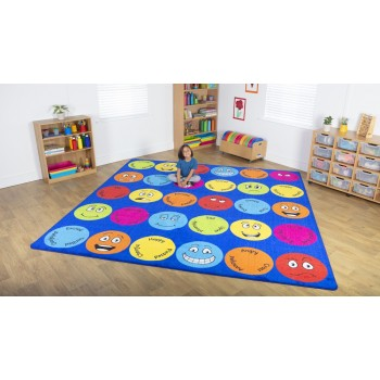 Emotions 3m Square Classroom Carpet
