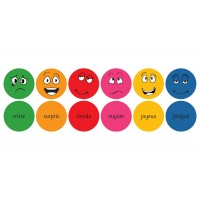 French Emotions Learning Floor Cushions