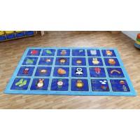 German Alphabet Classroom Carpet